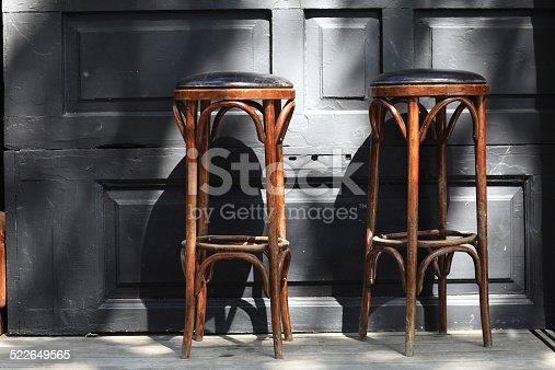 istock Two bar stools 522649565