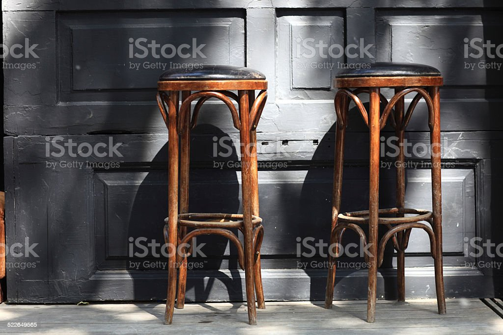 Two bar stools stock photo