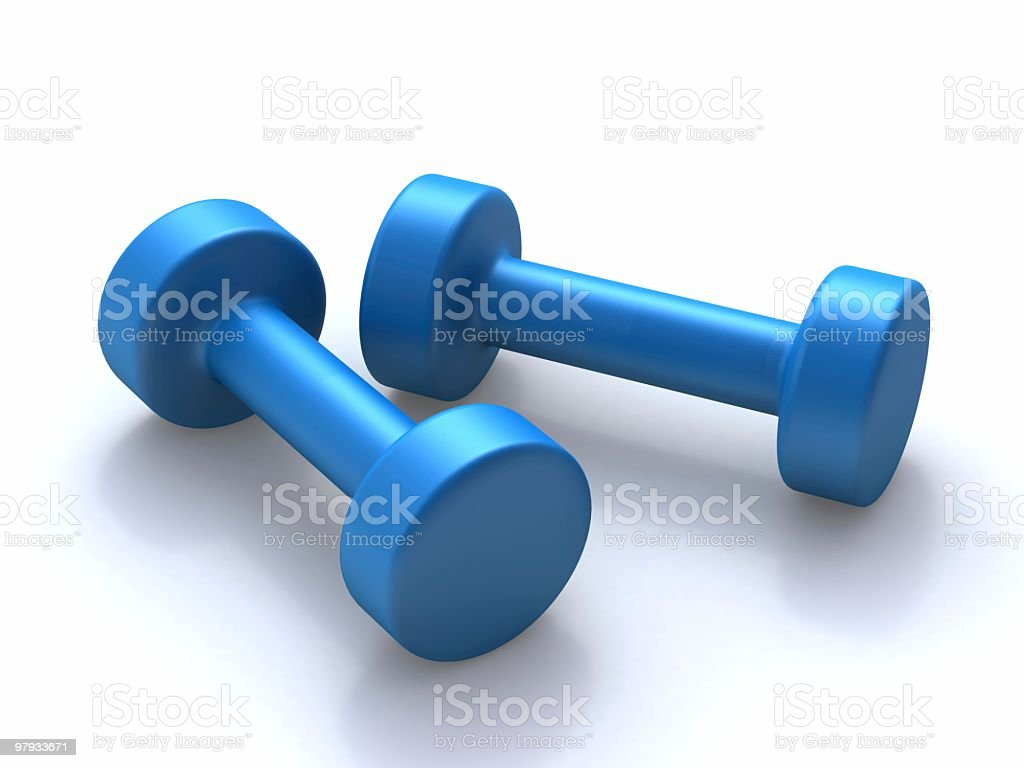 Two barbells royalty-free stock photo
