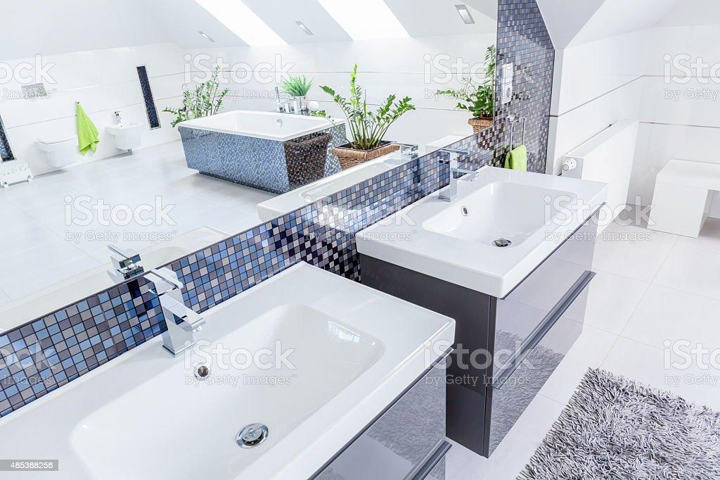 Due lavabo in bagno - foto stock