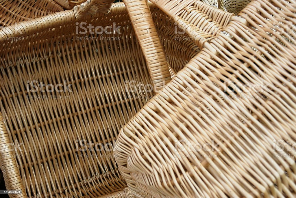 two baskets royalty-free stock photo