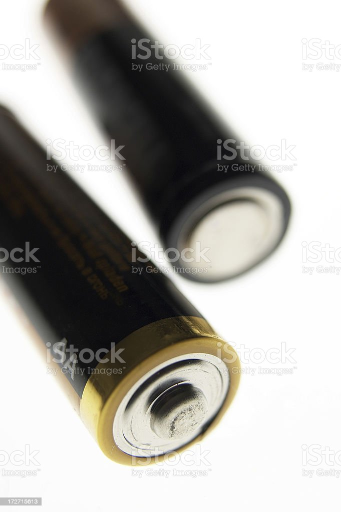 Two batteries stock photo