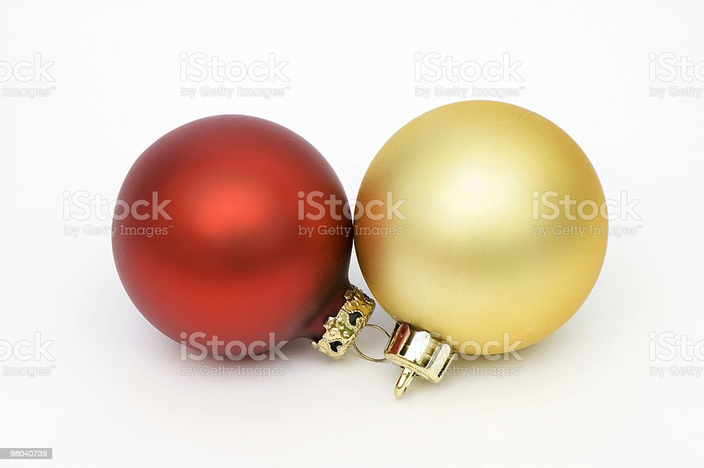 Two Baubles royalty-free stock photo