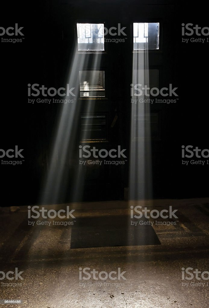 Two beams of light royalty-free stock photo