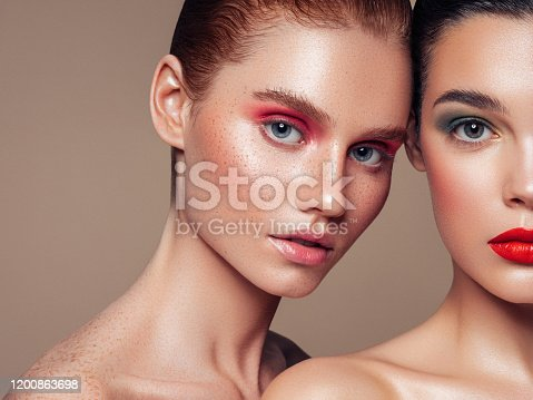 Two beautiful girls with make-up