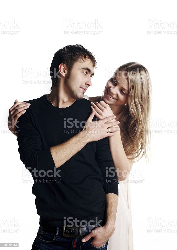 two beautiful lovers royalty-free stock photo