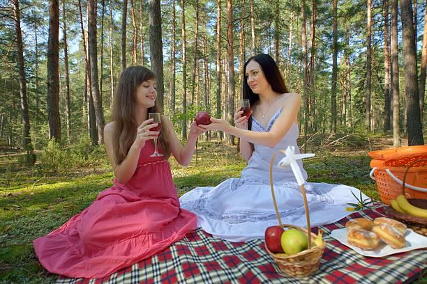 Cтоковое фото Два Красивая женщина на Пикник