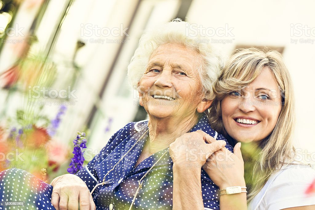 Two beautiful women royalty-free stock photo