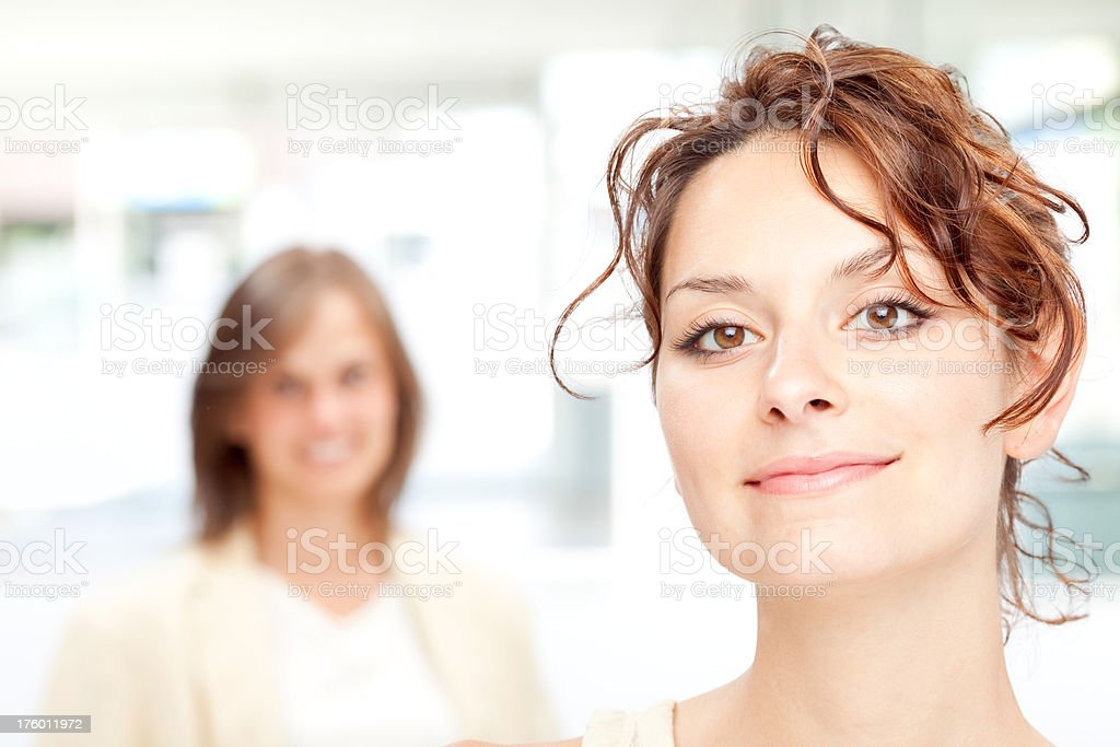 two beautiful young friend girl happiness royalty-free stock photo