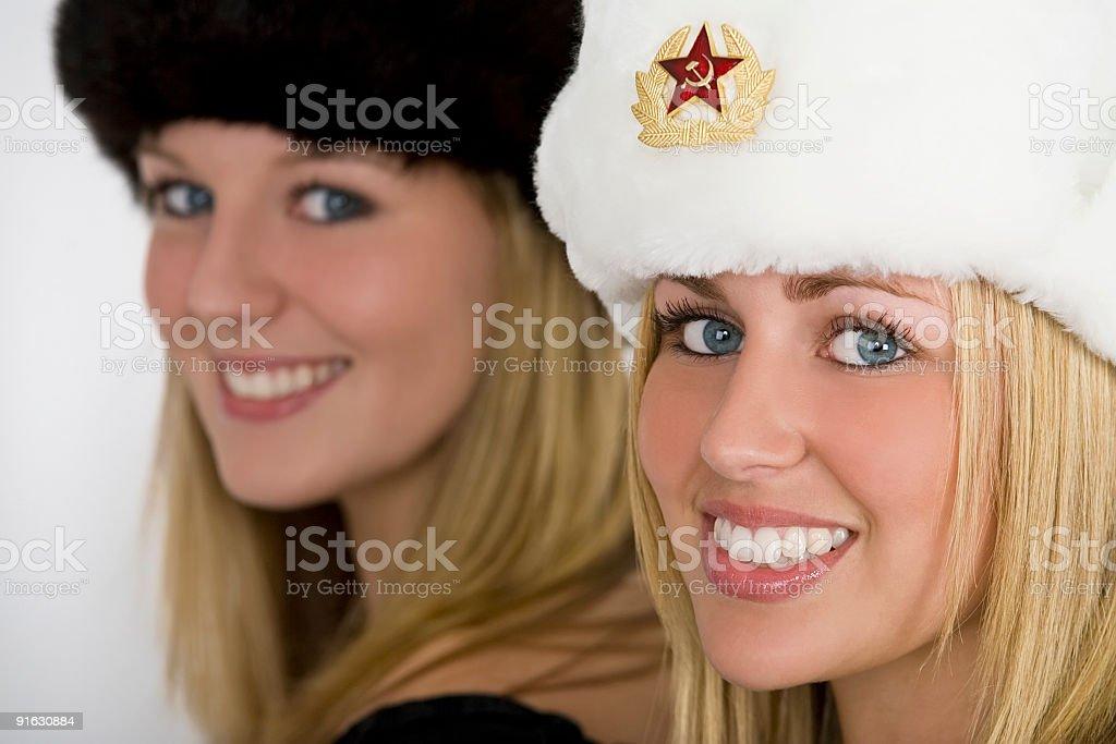 Two Beautiful Young Russian Women royalty-free stock photo