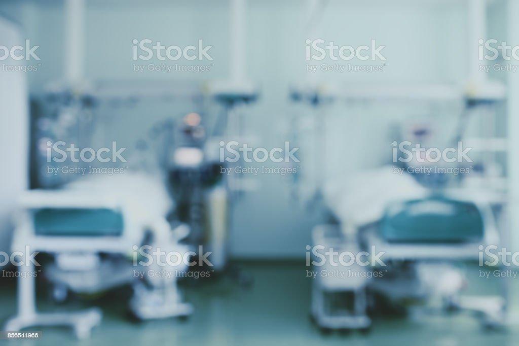 Twee bedden in de intensive care afdeling, onscherpe achtergrond - Royalty-free Abstract Stockfoto