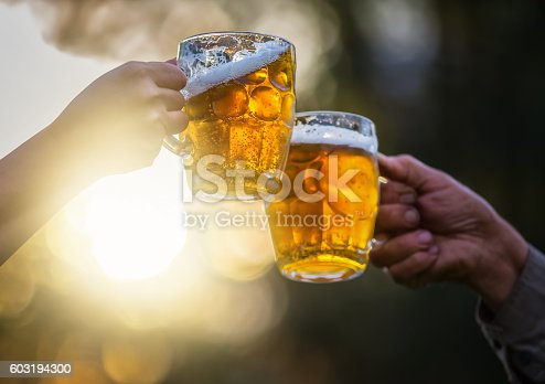 Две пивные кружки Stock Photo & More Pictures of Alcohol