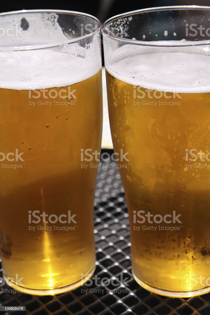 Two Beers royalty-free stock photo