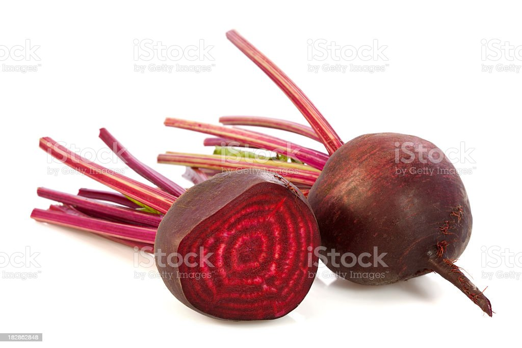 Two Beetroots stock photo