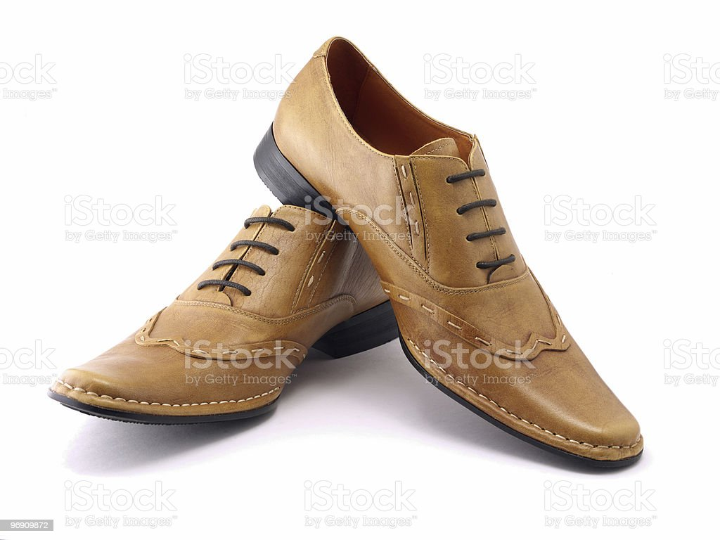 Two beige shoes royalty-free stock photo