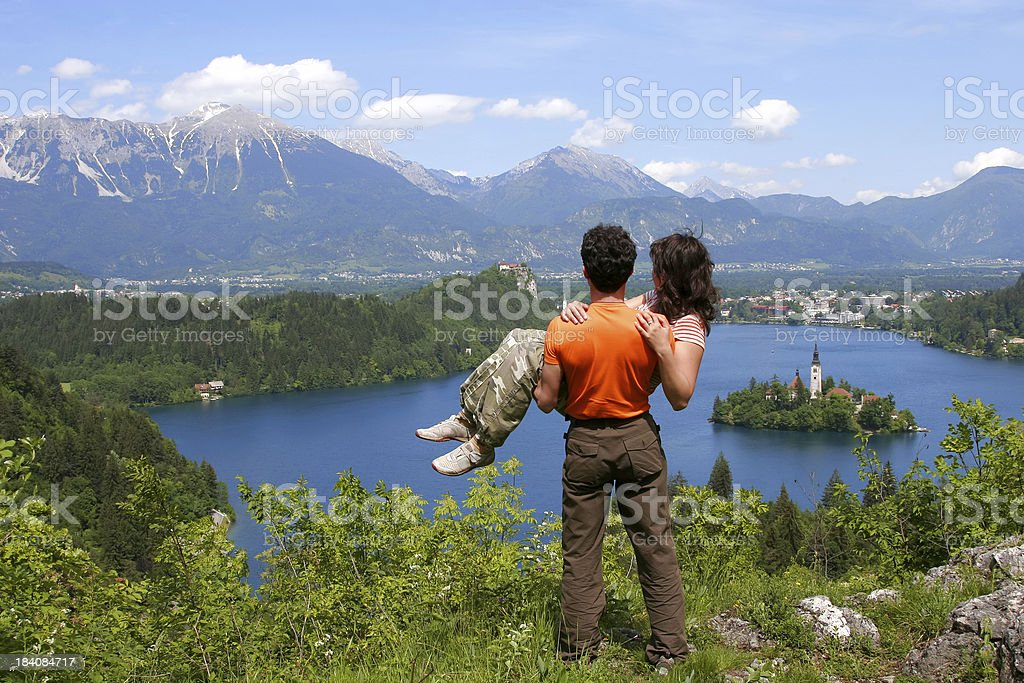 Two Beloved in a Paradise. I royalty-free stock photo