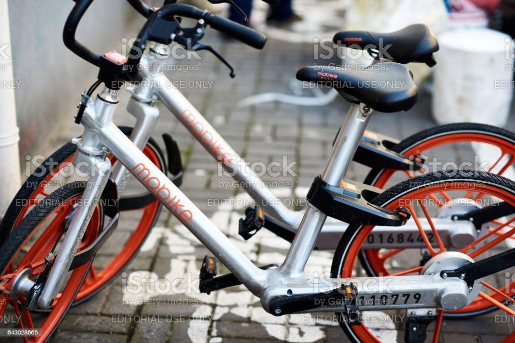 Deux vélos de covoiturage entreprise mobike - Photo