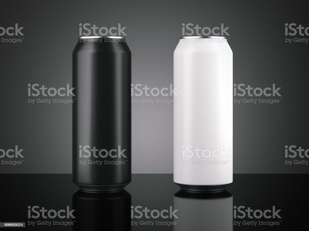 Two big aluminum can. 3d rendering stock photo