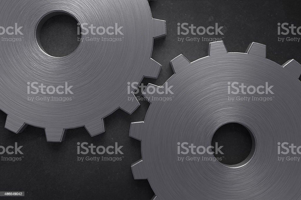 Two Big Gears stock photo