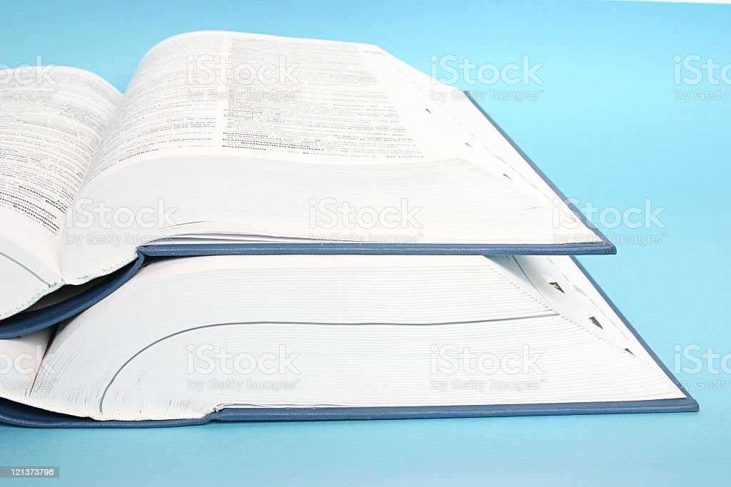 Two big opened books royalty-free stock photo