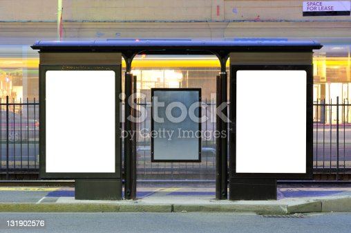 istock Two Billboards at Train Stop 131902576