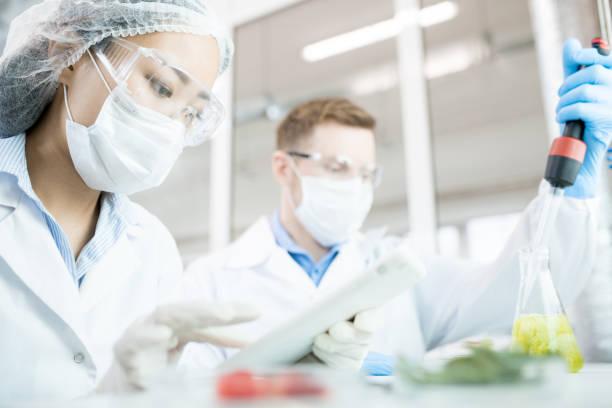 Two Bio Scientists in Laboratory stock photo