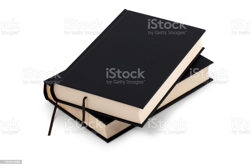 zwei schwarze Bücher - Clipping-Pfad – Foto