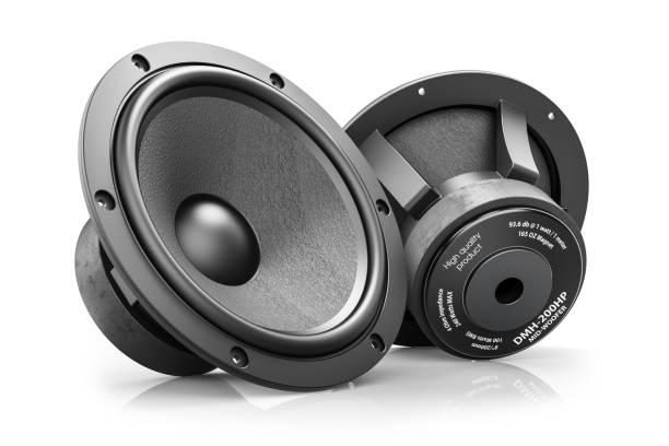 Zwei schwarze HI-Fi Lautsprecher – Foto