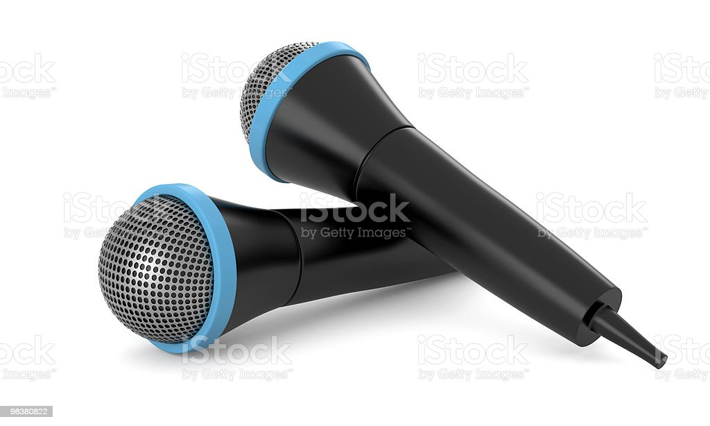 Two black mirophones royalty-free stock photo