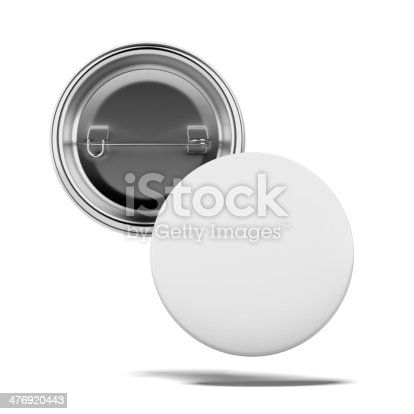 istock Two Blank badges 476920443