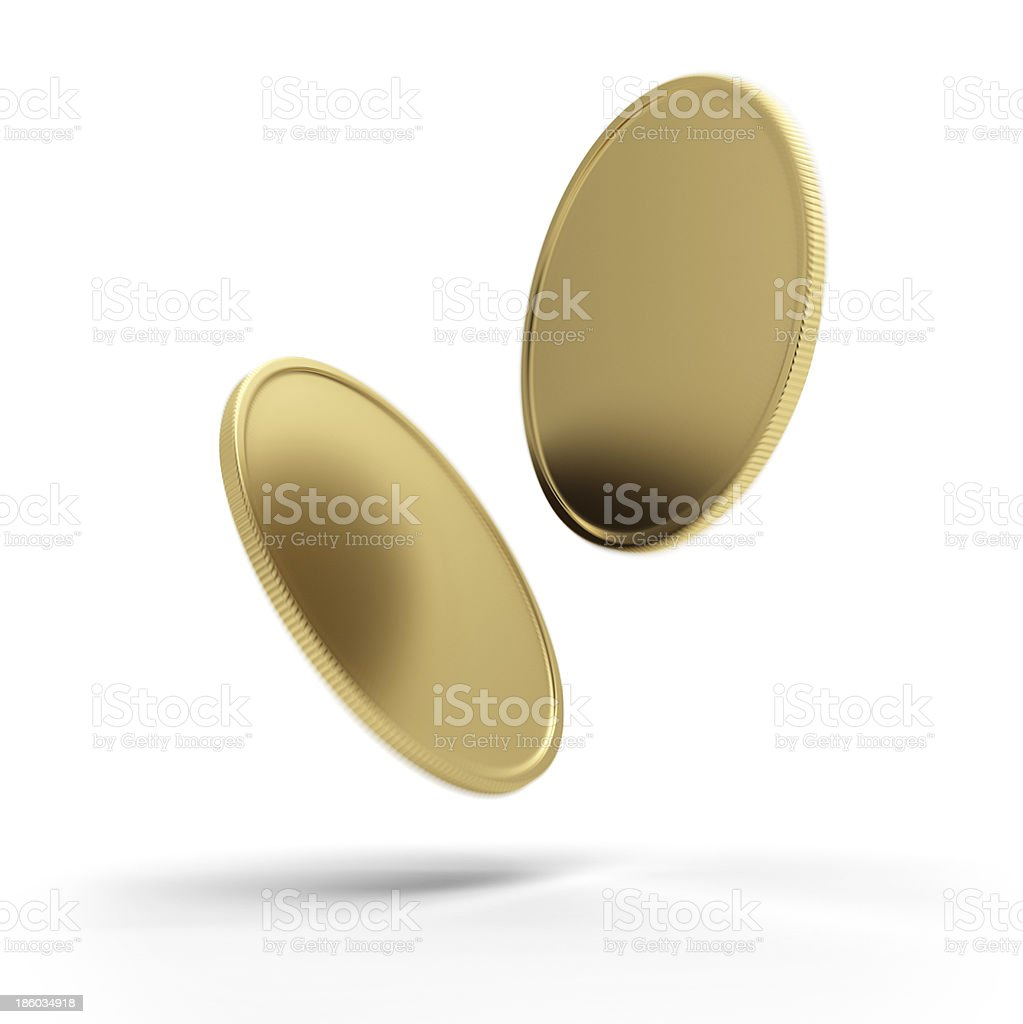 Two blank coins royalty-free stock photo