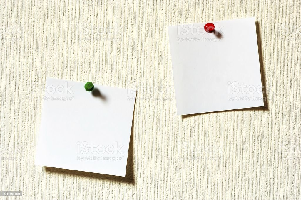 Two Blank Post-It notes royalty-free stock photo
