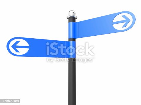186103814istockphoto Two Blank Road Signs 175520189