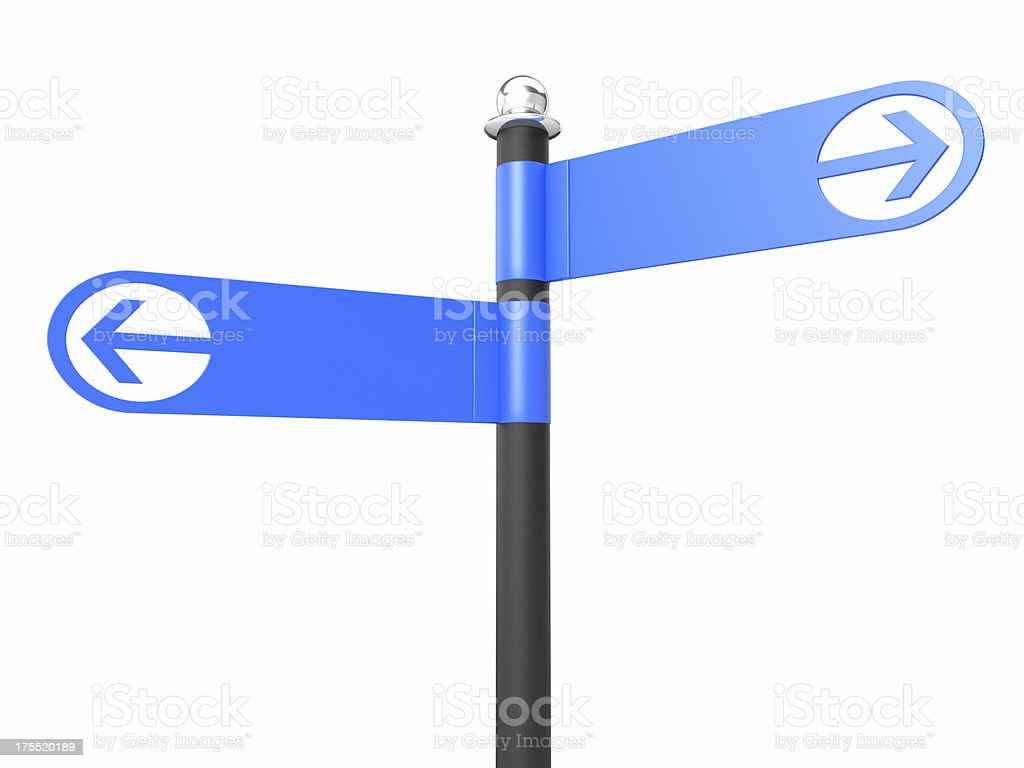 Two Blank Road Signs stock photo