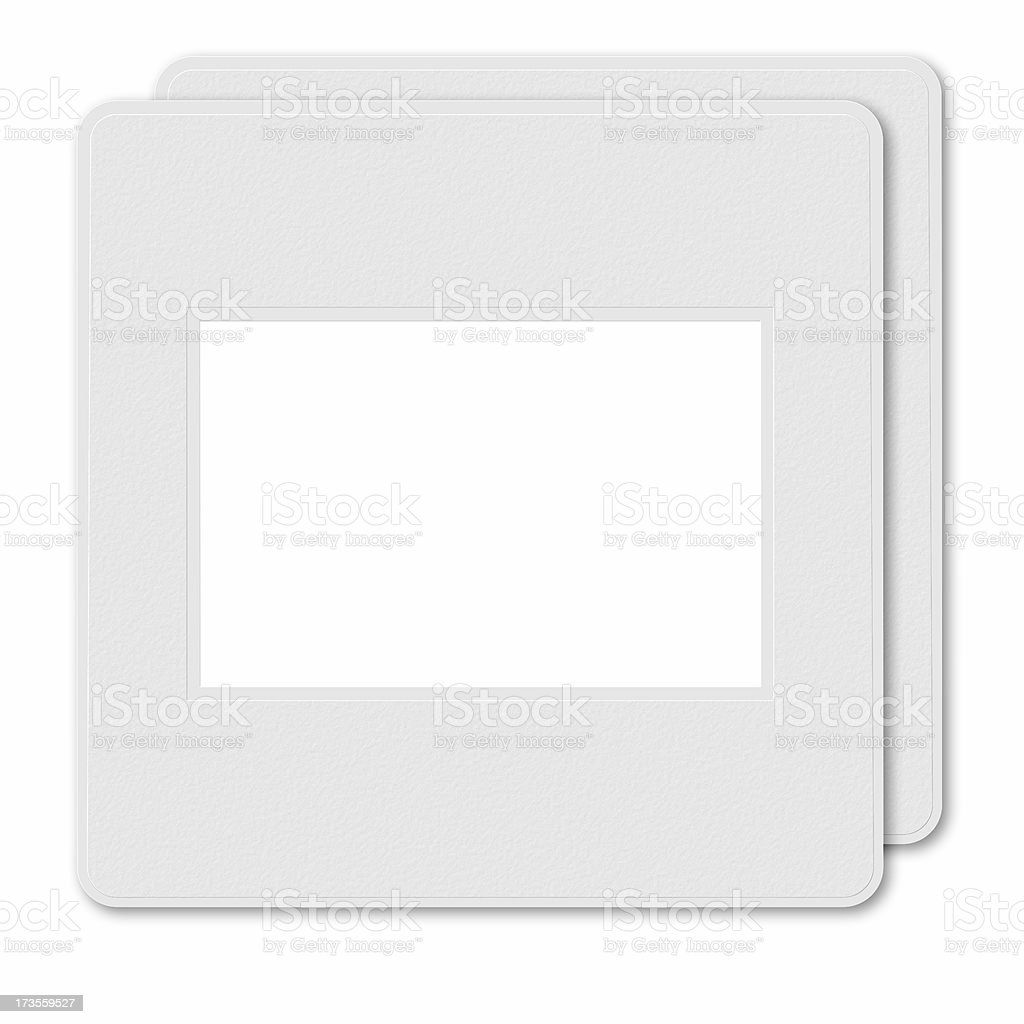Two Blank slide frames royalty-free stock photo