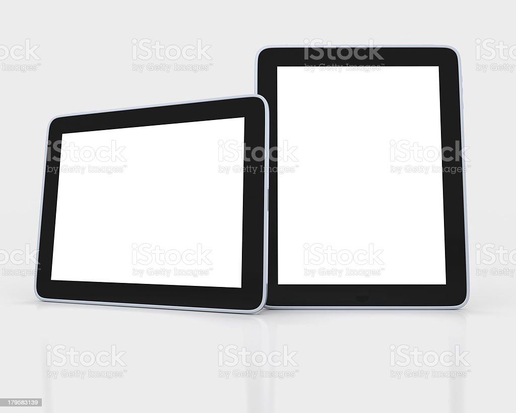 two Blank tablet pad pc royalty-free stock photo