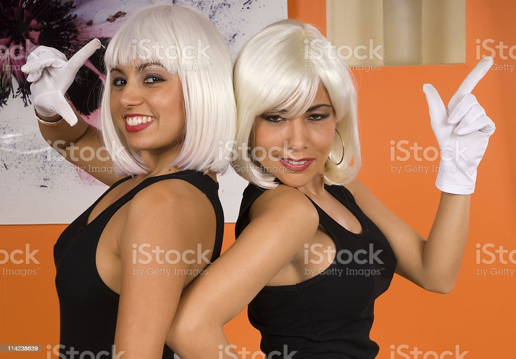 Two Blondes royalty-free stock photo