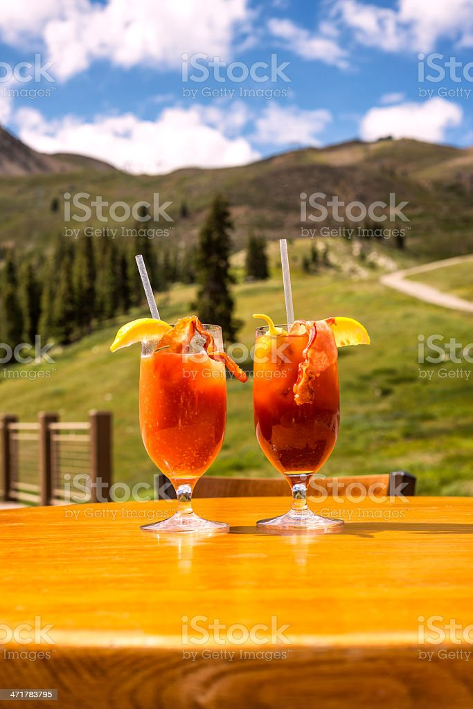 Two Bloody Mary Cocktails stock photo