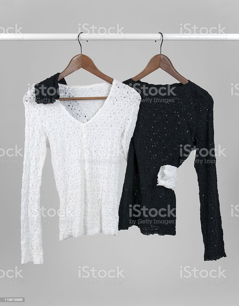 Two blouses hugging each other royalty-free stock photo