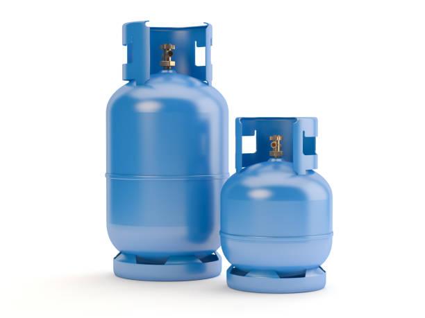Zwei blaue Gasflaschen – Foto