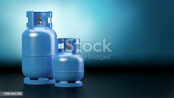 Blue background, 3d illustration