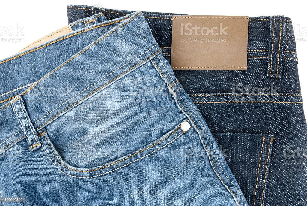 two blue jeans royalty-free stock photo