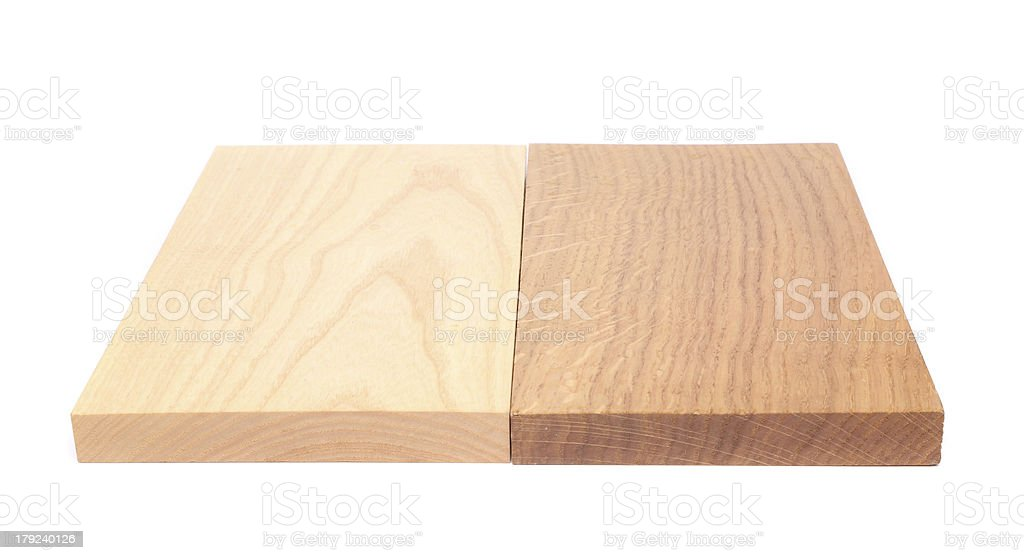 Two boards (elm, oak) royalty-free stock photo