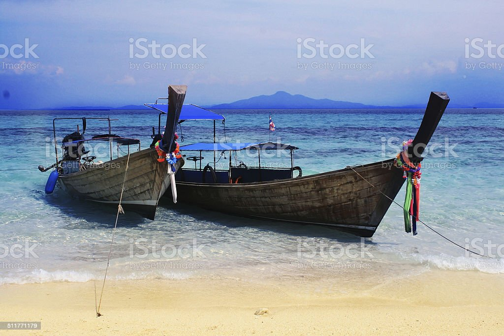 Two boat in Thailand stock photo