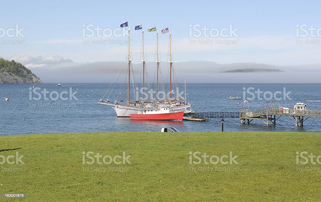 Two boats, Bar Harbor, Maine, USA stock photo