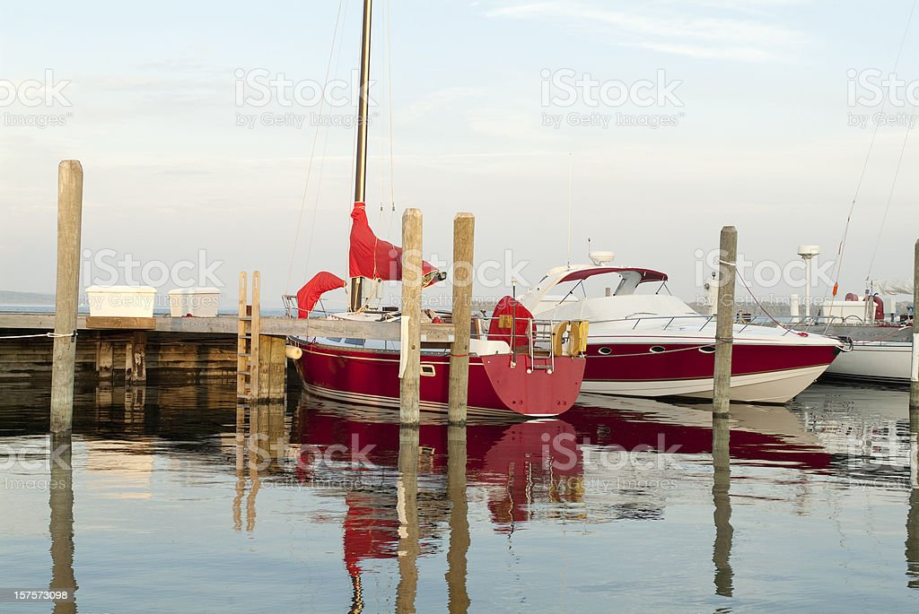 Two Boats in the Marina royalty-free stock photo