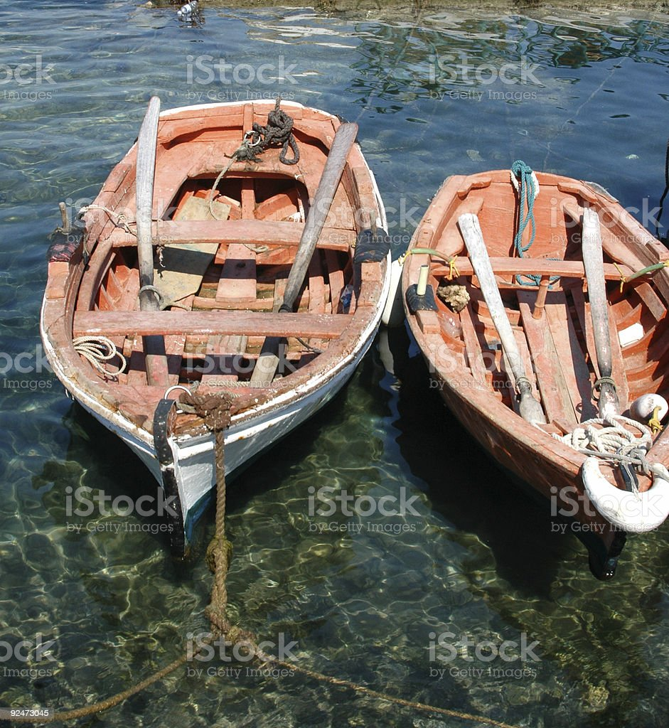 two boats royalty-free stock photo
