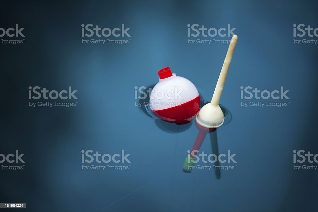 Two Bobbers stock photo