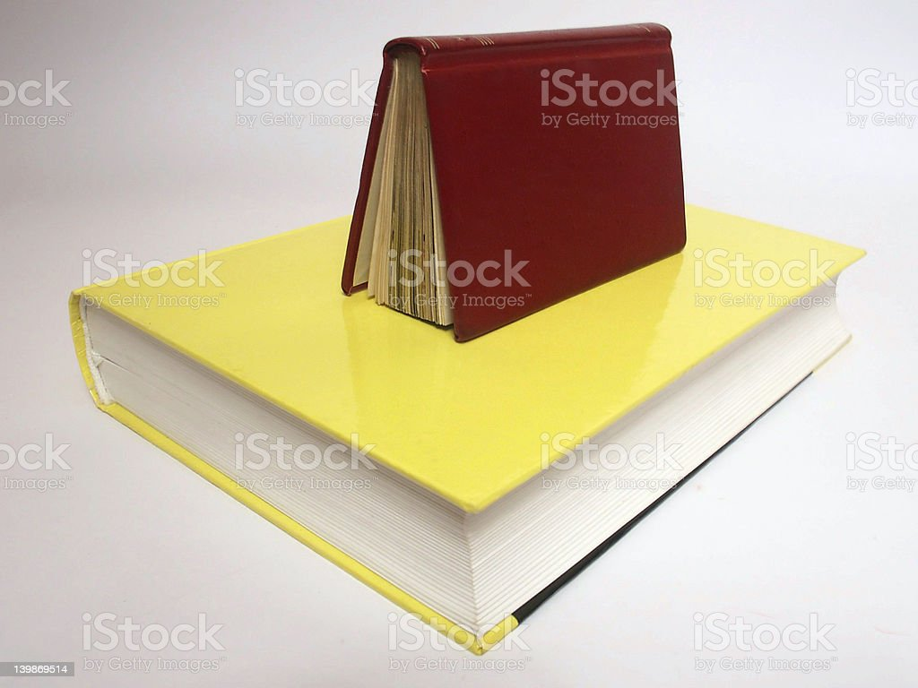 Two books royalty-free stock photo