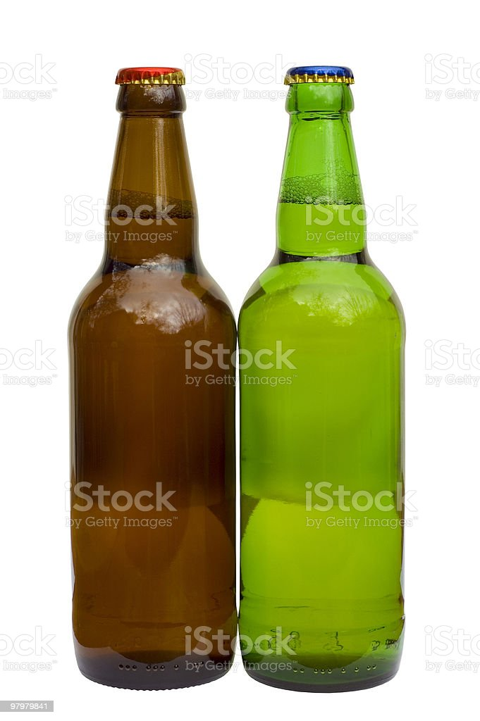 two bottle of beer royalty-free stock photo